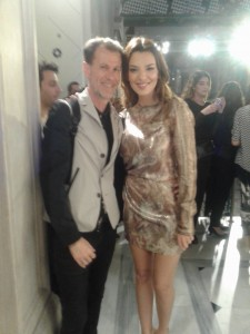 Nicoletta Ralli wears H&M dress