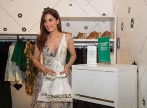 Katerina Papoutsaki recycles during the event