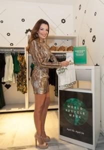 Nikoletta Ralli wears dress H&M conscious