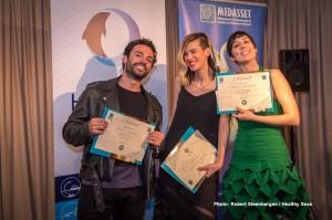 The winners all together Γιώργος Βούλγαρης,Κατερίνα Ρηγοπούλου,Αφροδίτη Μιχαηλίδη