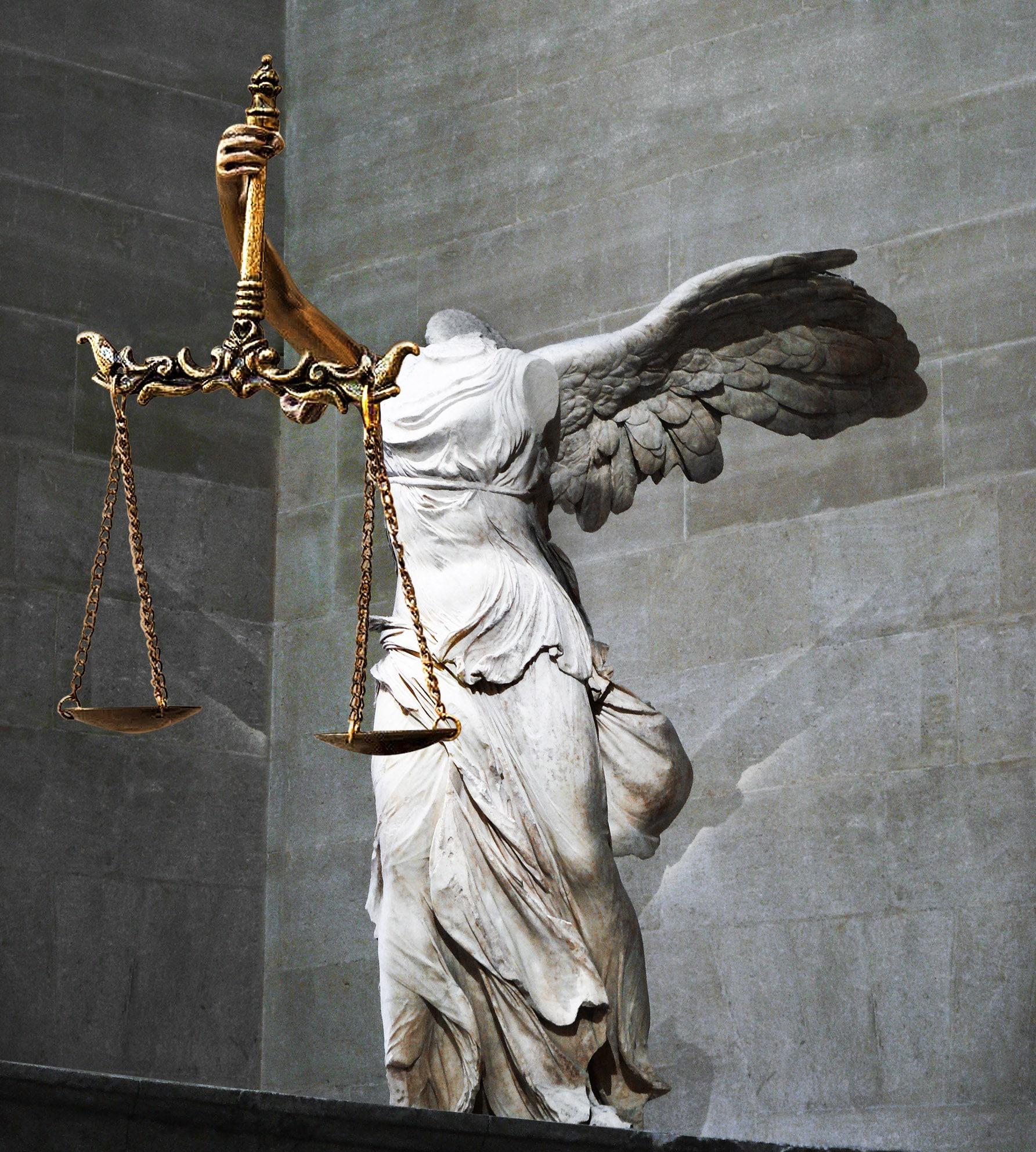 Η Δικαιοσύνη ΝΙΚΗσε/Justice leading NIKE